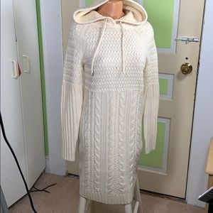 Athleta sweater dress medium ivory long length